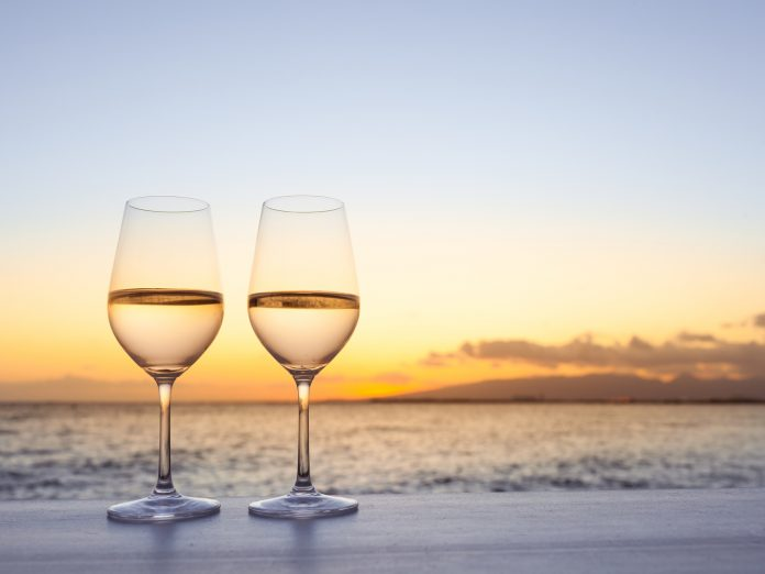 Glasses on the Beach at the Sandestin Wine Festival; Wine Festivals on 30A; South Walton Beaches Wine and Food Festival