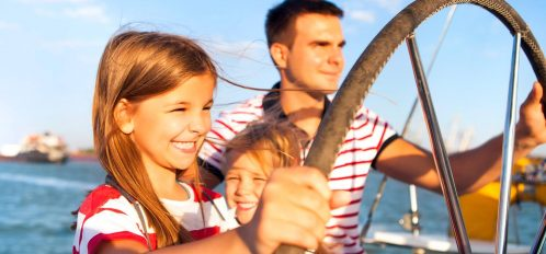 Family on a Backwater Tours Boat