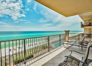 Adagio A305 balcony with chairs overlooking the ocean