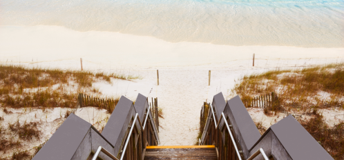 Stairs leading to the blue water beaches of Destin and 30A