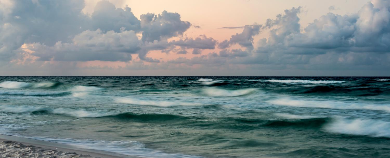 Destin coastline at sunset